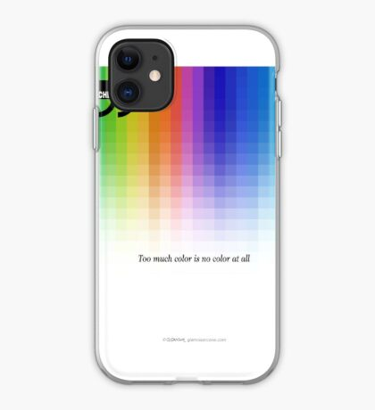 Use Color With Moderation (Chermayeff's Quote) iPhone Case