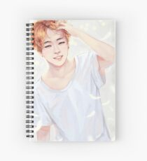 Fluffy Angel Jimin Spiral Notebook