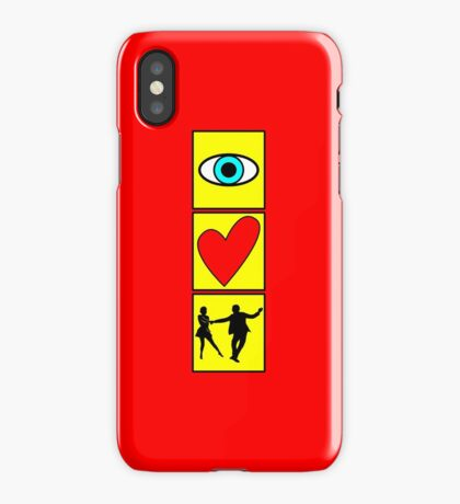 i love dance / west coast swing iPhone Case