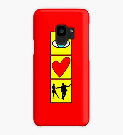 i love dance / west coast swing Case/Skin for Samsung Galaxy