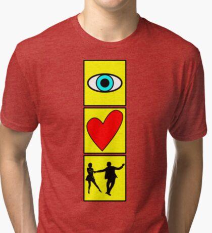 i love dance / west coast swing Tri-blend T-Shirt