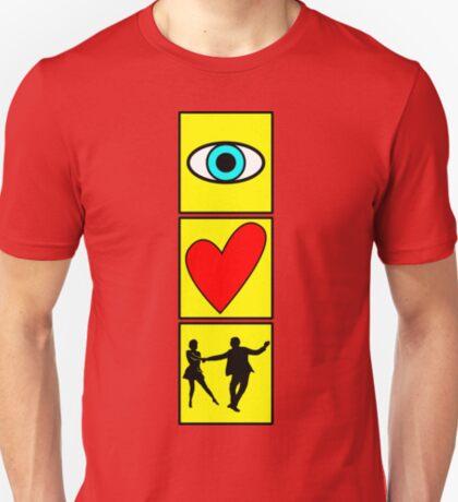 i love dance / west coast swing T-Shirt
