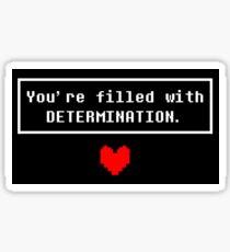 UNDERTALE - Determination Sticker
