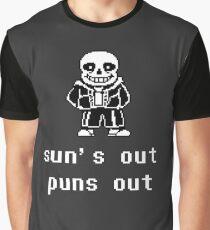 Sans - Sun's out Puns out Graphic T-Shirt
