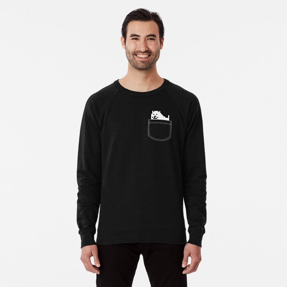 Undertale Dog Pocket Tee Lightweight Sweatshirt