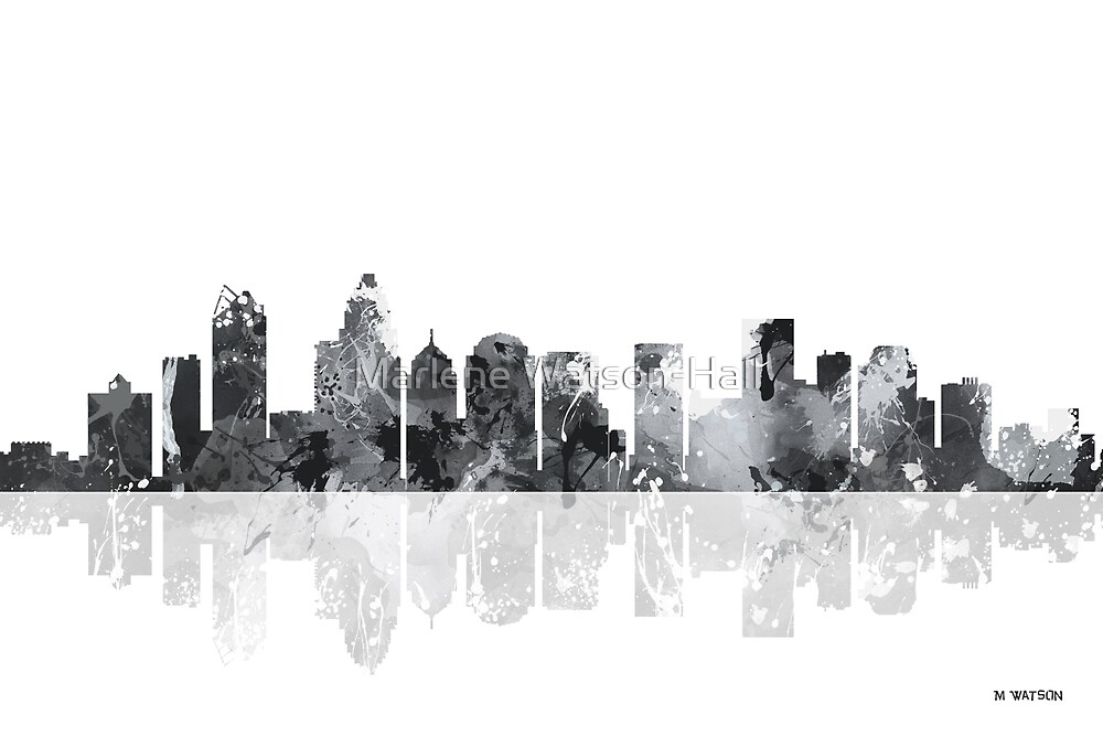 Charlotte NC Skyline by Marlene Watson