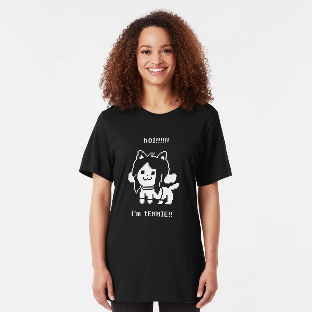 Undertale Temmie Slim Fit T-Shirt