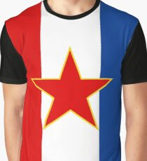 Yugoslavia Flag Banner Graphic T-Shirt