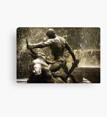 Theseus Slaying a Minotaur Canvas Print