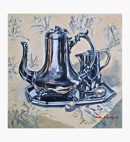 Silverware on toile. Oil on linen 2012Ⓒ Photographic Print