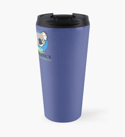Koala Clancy Foundation - green text Travel Mug