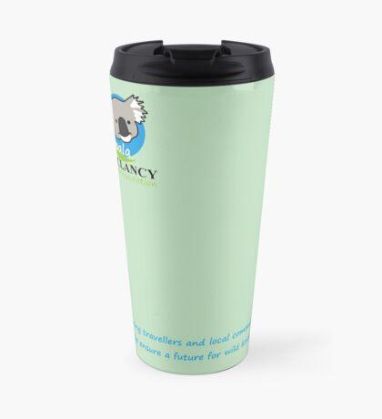 Koala Clancy Foundation - blue text Travel Mug