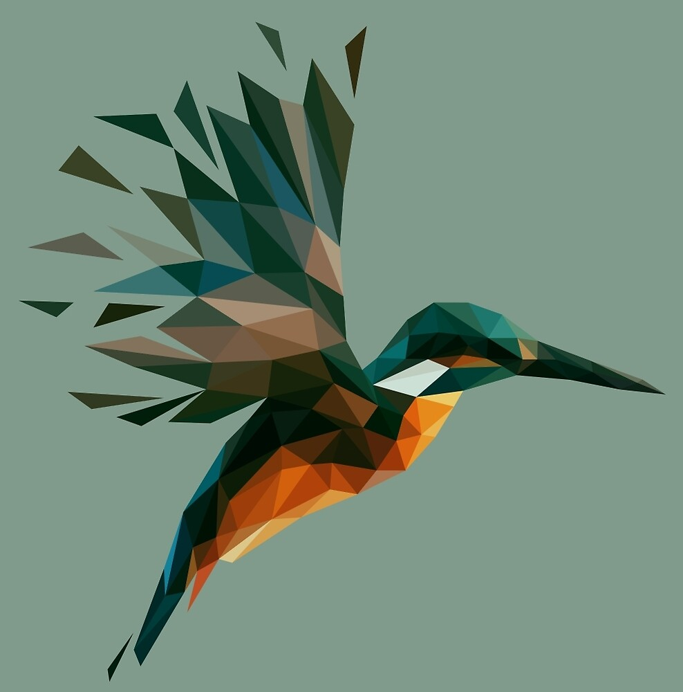 Low Poly Kingfisher by DigitalShards