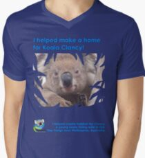 I helped Make a Home for Koala Clancy - new Men's V-Neck T-Shirt