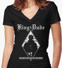 King Dude (Masked | LTLOTW) Women's Fitted V-Neck T-Shirt