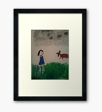 oil pastel drawing Framed Print