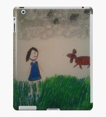 oil pastel drawing iPad Case/Skin