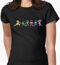 Mighty Morphin Mini Rangers Womens Fitted T-Shirt