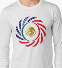 Mexican American Multinational Patriot Flag Series 1.0 Long Sleeve T-Shirt