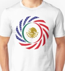Mexican American Multinational Patriot Flag Series 1.0 T-Shirt