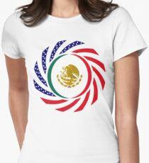Mexican American Multinational Patriot Flag Series 1.0 Women's Fitted T-Shirt