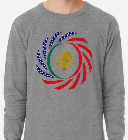 Mexican American Multinational Patriot Flag Series Lightweight Sweatshirt