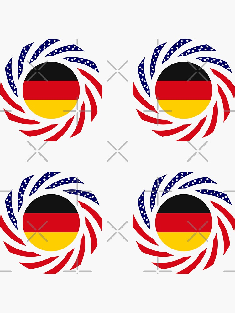 German American Multinational Patriot Flag Series by carbonfibreme