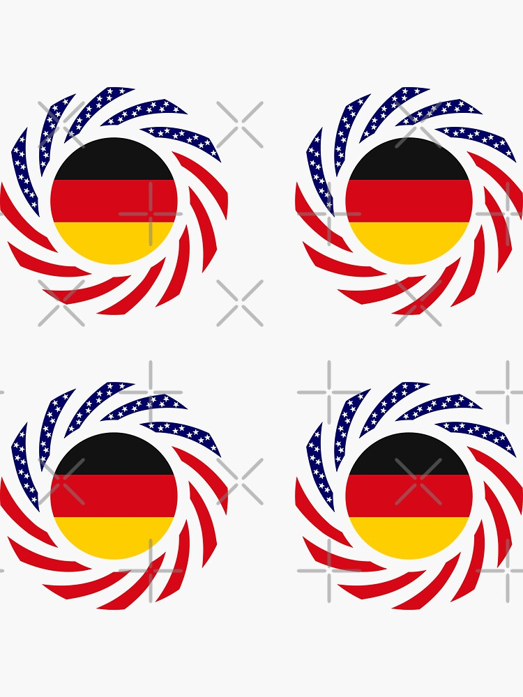 German American Multinational Patriot Flag Series by carbonfibreme