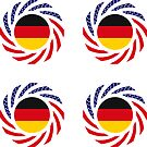 German American Multinational Patriot Flag Series by Carbon-Fibre Media