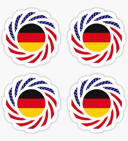 German American Multinational Patriot Flag Series Sticker