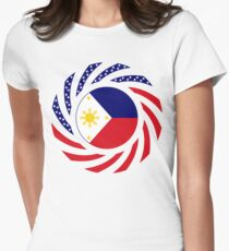 Filipino American Multinational Patriot Flag Series 1.0 Women's Fitted T-Shirt