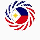 Filipino American Multinational Patriot Flag Series  by Carbon-Fibre Media
