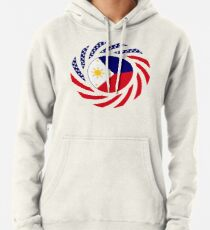 Filipino American Multinational Patriot Flag Series  Pullover Hoodie