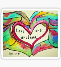 LOVE One Another John 13: 34 Sticker