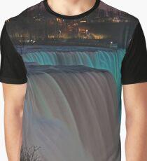 American Falls At Night | Niagara Falls, New York Graphic T-Shirt
