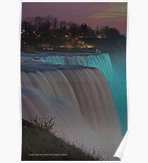 American Falls At Night | Niagara Falls, New York Poster