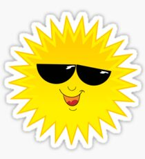 I Love Sunshine - Funny Cartoon Sun T-Shirt Solar Clothing Decal Sticker