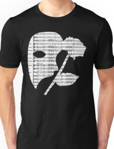 Phantom Music Sheet Unisex T-Shirt