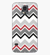 Chevron Red Grey Black Zigzag Pattern Case/Skin for Samsung Galaxy