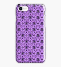 The Haunted Mansion Wallpaper - Light Purple  iPhone Case/Skin