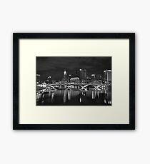 Columbus in Black and White Framed Print