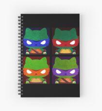Teenage Mutant Ninja Kitties Spiral Notebook