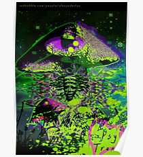 Psychedelic Mushroom Love Poster