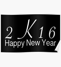 2k16 happy new year poster