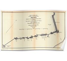 Civil War Maps 1251 Part of Federal point entrance to Cape Fear River Sketch showing line of rebel forifications captured by the combined naval and military forces Poster