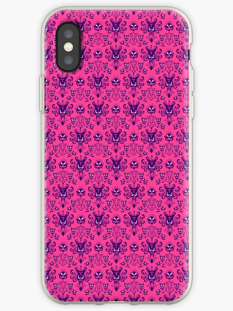 innovative design 1120b ef6fe 'The Haunted Mansion Wallpaper - Pink/Violet' iPhone Case by madradmitchell