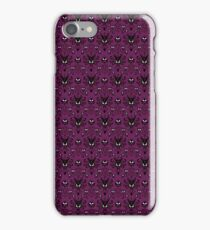 THEE Haunted Mansion Wallpaper - Deep Purple iPhone Case/Skin