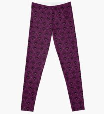 THEE Haunted Mansion Wallpaper - Deep Purple Leggings