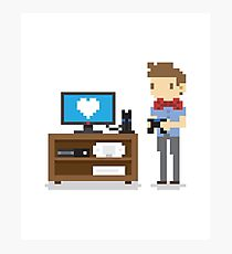 i love video games shirt! (console, pc) Photographic Print