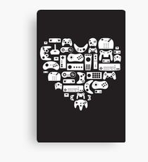 I heart gaming (graphic tees, mugs, and more!) Canvas Print